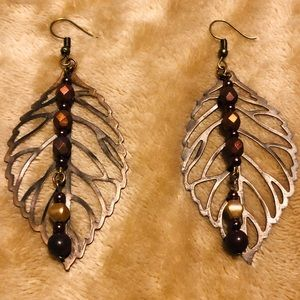 Artisan Brown Leaf Earrings